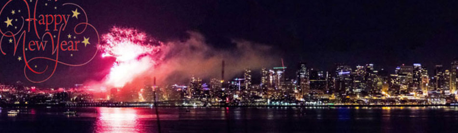 Seattle celebrates the arrival of 2018 with fireworks